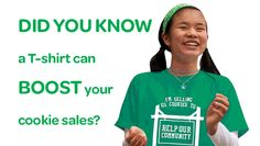 Make your own goal T-shirt to help boost cookie sales