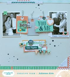 I spy Chickaniddy on this great layout. Created by Adrienne Alvis!