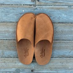 Mens Leather Slippers for Men Leather House Shoes for Men handmade with original leather