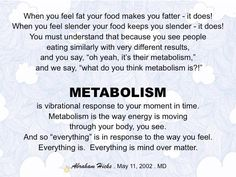 when you are in alignment, your metabolism is balanced and food become a source to nurture the body vs abuse the body