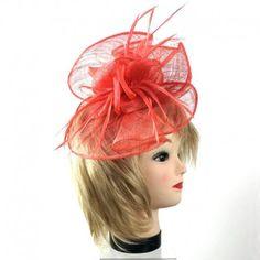 Bibi accessoire de coiffure rouge mandarine