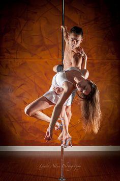 April & Jose of AVA Fitness in New Westminster, BC, Canada.  Photo taken February 2015.  #poleographybylynda #poledance #polefit #polefitness #polelove #polelife #poleart #poleography #doublespole