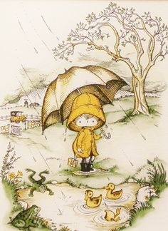 Rainy Day Best Friends. A piece from my childhood.