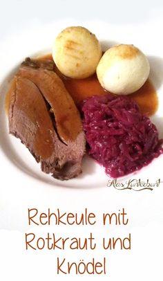 Ala's Kunterbunt - Rehkeule, Rotkraut / Rotkohl und Knödel aus dem Slow Cooker / Crockpot #Christmasdinner