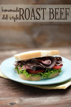 Homemade Deli Style Roast Beef #recipe by bunsinmyoven.com