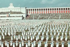 League of German Girls dancing during the 1938 Reich Party Congress, Nuremberg, Germany. - wow...this is way before the Korea's do their mass performances...