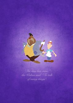 Alice in Wonderland inspired design (The Walrus & the Carpenter).
