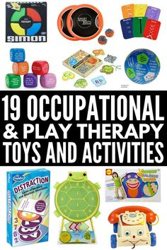 19 therapy toys for kids with autism and sensory processing disorder that help develop gross and fine motor skills, language, and cognitive skills. Cerebral Palsy Activities, Occupational Therapy Activities, Sensory Therapy, Autism Activities, Art Therapy Activities, Toddler Activities, Occupational Therapist, Cerebral Palsy Toys, Cerebral Palsy In Children