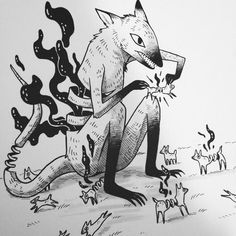 I have recently discovered Miranda Zimmerman aka Faunwood's drawings and I LOVE! Here are just a few amazing examples for your viewing pleasure . Dark Drawings, Animal Drawings, Cool Drawings, Illustrations, Illustration Art, Art Folder, Artwork Images, Gothic Art, Creature Design