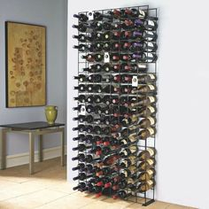 Metal Wine Rack 144 Bottle Holder Bar Accessories Cellar Kitchen Storage New