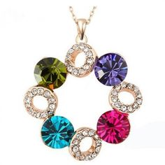Shop for everything but the ordinary. More than sellers offering you a vibrant collection of fashion, collectibles, home decor, and more. Cheap Fashion Jewelry, Fashion Jewelry Stores, Jewelry Accessories, Fashion Accessories, Jewelery, Jewelry Necklaces, Circle Pendant Necklace, Crystal Pendant, Crystal Necklace