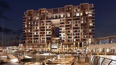 The Ritz-Carlton, Herzliya by night.
