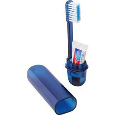Toothbrush Travel Kit, an ideal toiletry which come in a plastic travel case with a small tube of Colgate toothpaste. Travel Kits, Packing Tips For Travel, Travel Hacks, Packing Ideas, Travel Essentials, Best Drugstore Setting Spray, School Emergency Kit, Emergency Kits, Light Up Vanity