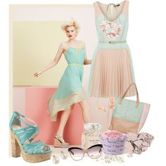 Under the Sea trend key styles Pastel Fashion, Trendy Fashion, Girl Fashion, Fashion Trends, Hot Outfits, Stylish Outfits, Pretty Girl Rock, Polyvore Outfits, Outfit Sets