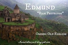 "Edmund - Old English name meaning ""rich protector"". Learn more at my name blog: NameEnthusiast.blogspot.com"