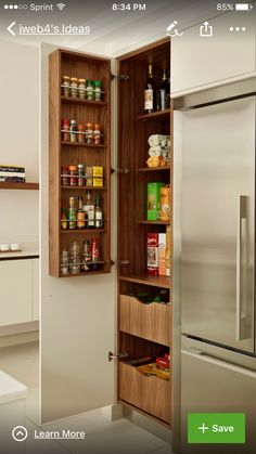 like the spice rack up high and easy to access for adults