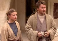Beru Whitesun Lars and Owen meet Anakin Skywalker.