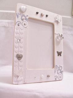 White wedding decorative wooden frame  by SparkleandComfort, $16.00