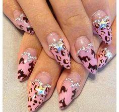 @stilettosuicide on IG. #stilettonails #stiletto #nails #pointednails #daggernails #manicure #acrylics Animal Nail Designs, Swarovski Nails, Manicure, Hair Makeup, Nail Art, Beauty, Heaven, Kawaii, 3d