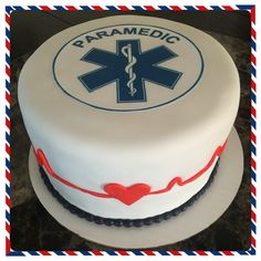 Paramedic Gifts, Paramedic Quotes, Ambulance Cake, 50th Birthday Decorations, Paramedics, Graduation Cake, Dream Cake, Themed Cupcakes, Medical Field