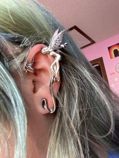 Grunge Jewelry, Funky Jewelry, Ear Jewelry, Cute Jewelry, Body Jewelry, Jewelry Accessories, Fashion Accessories, Jewlery, Pretty Ear Piercings