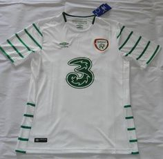 2016 Ireland Away White Thaiand Short Sleeves Soccer Jersey