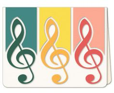 Music To My Ears Card , Blank, women, men, kids, teens, notes, yellow, red, green,  birthday , congratulations, FREE CONFETTI