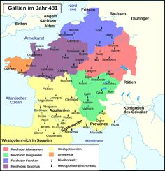 Historical Outline of the Orthodox Church in Gaul (France) European History, World History, Art History, Historical Artifacts, Historical Maps, Grimm, Geography Map, Empire Romain, France Map