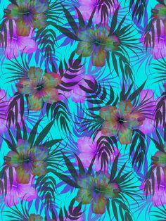Honolua Day Art Print by SchatziBrown #tropical #floral #tropics