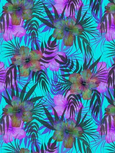 Honolua Day Art Print by SchatziBrown #tropical #floral #tropics