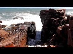 "Bar Harbor Maine - Acadia - ""Thunder Hole"".  Just too cool.  Listen. It really roars."