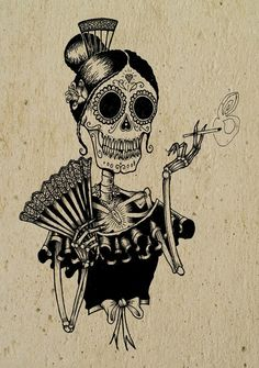 Calavera flamenca! La AME!!!!