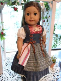 """Beauty and the Beast Blue Dress Belle Outfit to fit your 18"""" American Girl Doll by Emmakate0 on Etsy"""