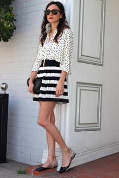 #fashion #stripes #polkadots