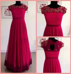 Para pedir, pls WhatsApp no 94929 91857 - Kurti - Gowns Anarkali Dress, Red Lehenga, Lehenga Choli, Anarkali Gown, Gown Party Wear, Party Wear Lehenga, Fancy Blouse Designs, Dress Neck Designs, Neckline Designs