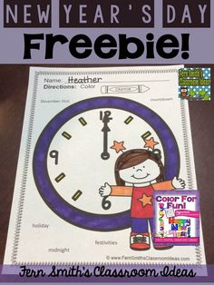 Happy New Year Coloring Picture Free Printable