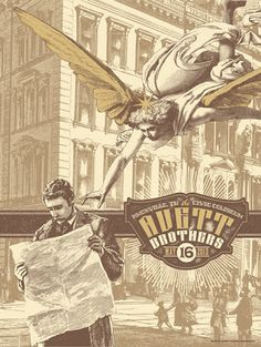 Avett Brothers Knoxville & Nashville Posters By Status Serigraph Release Details