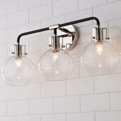 Black Bathroom Light Fixtures, Vanity Light Fixtures, Bathroom Lighting Fixtures, Light Bathroom, Bathroom Sconces, Bath Fixtures, Bathroom Hardware, Bathroom Vanities, Modern Vanity Lighting