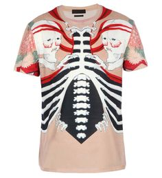 Alexander McQueen – Skull and rib cage T-shirt