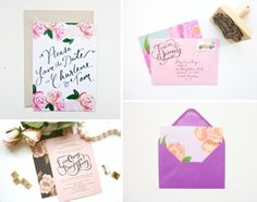 Wedding Stationery ~ Mix and Match Paper Goods from Berinmade...