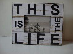 Fotolijst this is the life,wit: Long Island Living Maten: Hoog 20 x breed 24 x diep 1,5 cm € 7,95