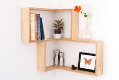 smart & simple corner shelf from Senkki on etsy