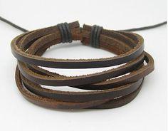 Bangle leather bracelet men bracelet women by braceletbanglecase, $3.00