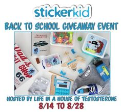 #BloggersWanted for the Back to School Event w/StickerKids! US 8/14-8/28 sign ups close 8/11 #bloggeropp