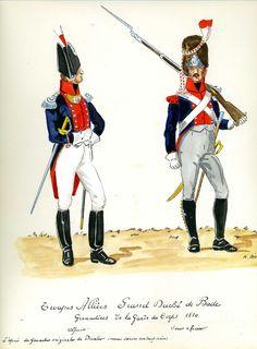 Ufficiale e sottufficiale dei granatieri del ducato di Bade