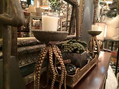 April 2015, playing with new arrivals from Market....sooo fun! Check us out at www.robynstorydesigns.com Vignettes, Objects, Artisan, Candles, Table Decorations, Boutique, Check, Fun, Beautiful