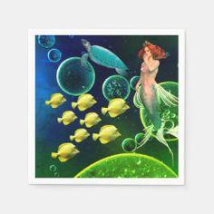 Mystical Sea Creatures Paper Napkins