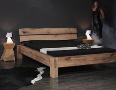 Massivholzbetten rustikal  Bettrahmen, Altholzbett,Bettrahmen rustikal (SO | Woodworking, Bed ...