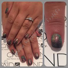 CND Shellac black pool, titanium pearl & violet pearl additives mixe, clearly pink, hummingbird additive. #brandonwebb these are amazing!