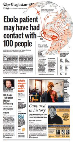 The Virginian-Pilot's front page for Friday, Oct. 3, 2014.